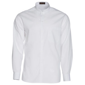 camisa caballero cuello mao manga larga