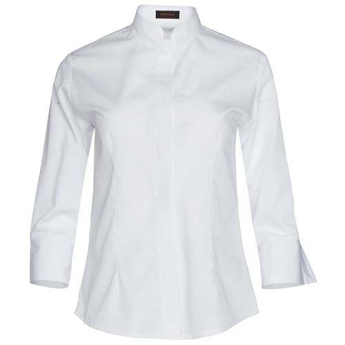 blusa cuello mao manga francesa