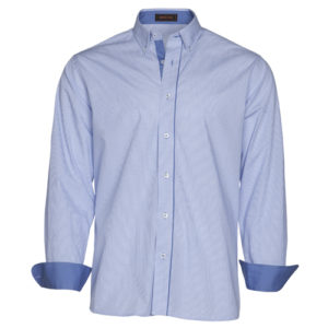 camisa combinada azul