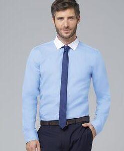 Camisa combinada azul blanco