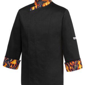 Chaquetilla con detalle fuego cocinero
