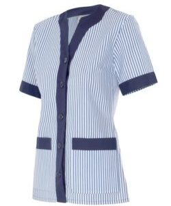 chaqueta limpieza rayas combinada