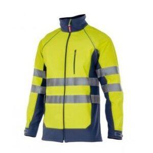 chaqueta soft shell técnica alta visibilidad