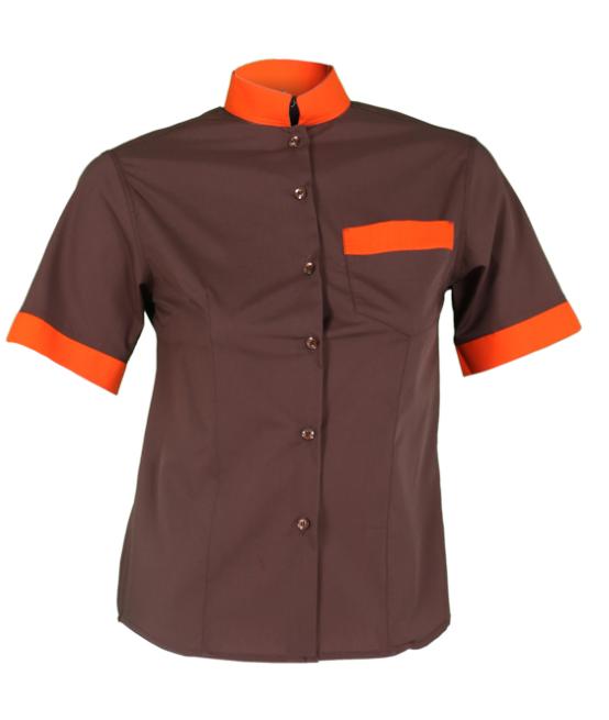 camisa GARYS combi marrón