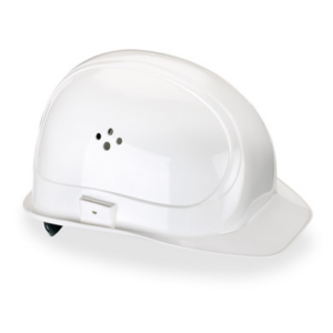 casco protección blanco