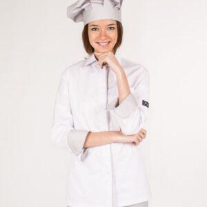 casaca cheff mujer blanca