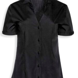 Blusa cuello caja V manga corta